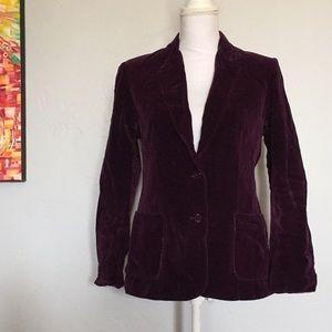 Vintage Velvet Purple Blazer
